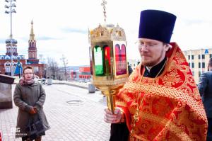 Благодатный огонь в Свято-Михайловском Соборе