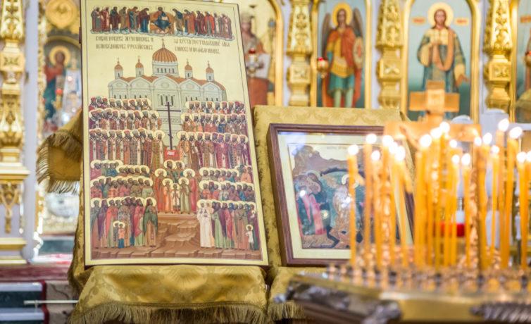 В день Собора новомучеников и исповедников российских богослужения в соборе совершил митр. Викторин