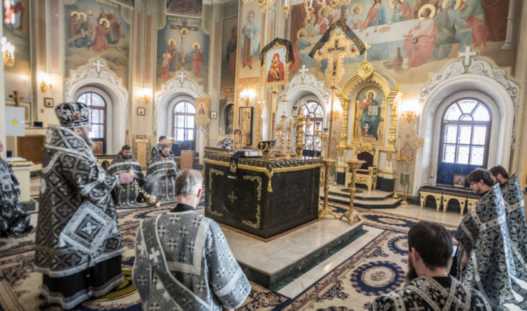 Первая в этом году литургия Преждеосвященных даров