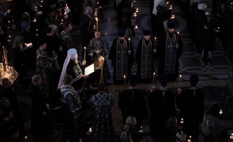 Чтение последней части покаянного канона Андрея Критского