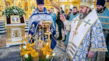 В праздник Сретения был совершен чин освящения свечей